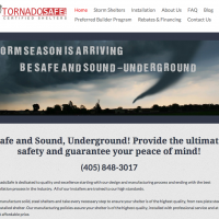 Tornado Shelter Website